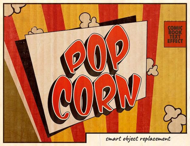 Pop-art-comics-texteffekt Premium PSD