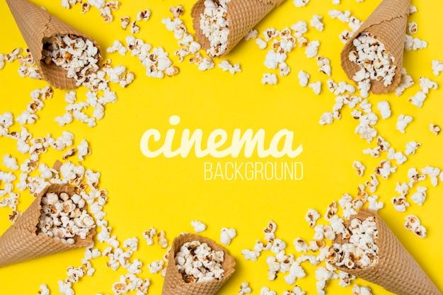 Popcorn für kinorahmen Kostenlosen PSD