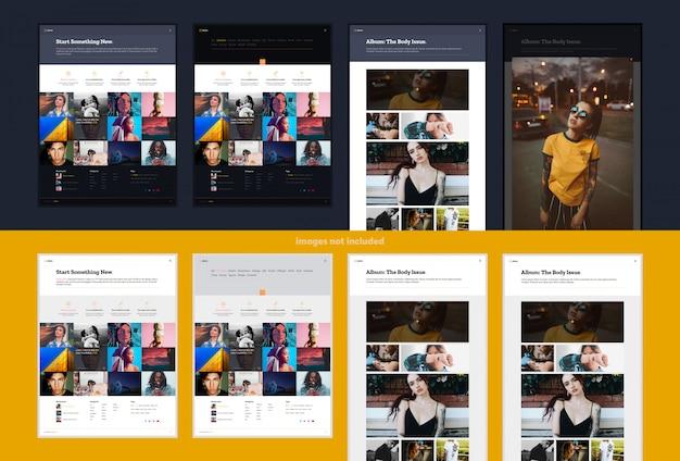 Portfolio- oder galerie-website-design Premium PSD