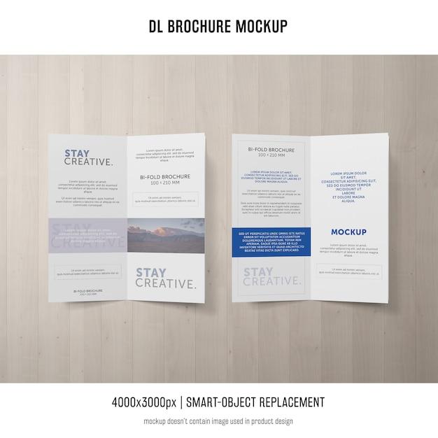 Portrait dl-broschüren-modell Kostenlosen PSD
