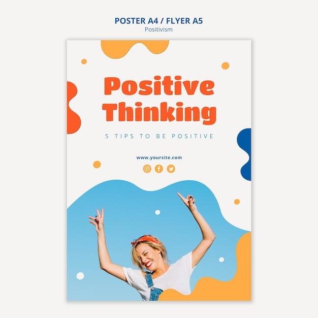 Positiv denkendes plakatdesign Kostenlosen PSD