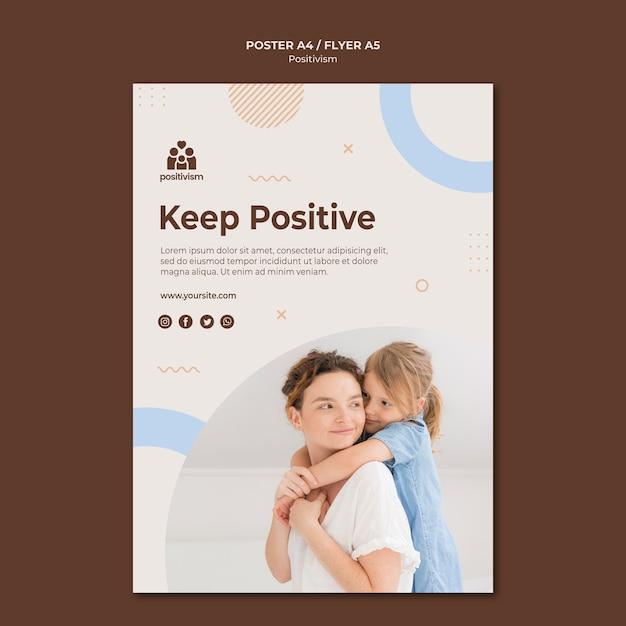 Positive plakatvorlage behalten Kostenlosen PSD