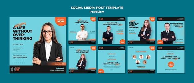 Positivismus konzept social media post vorlage Premium PSD