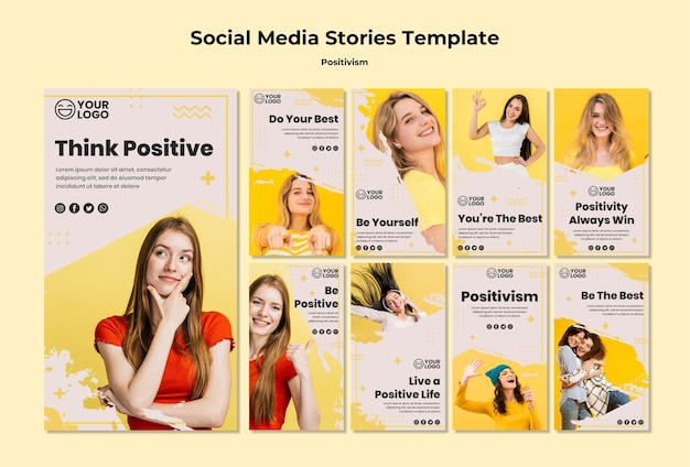Positivismus social media geschichten vorlage Kostenlosen PSD