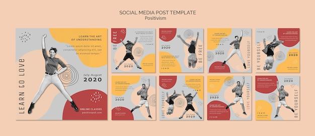 Positivismus social media post vorlage Kostenlosen PSD
