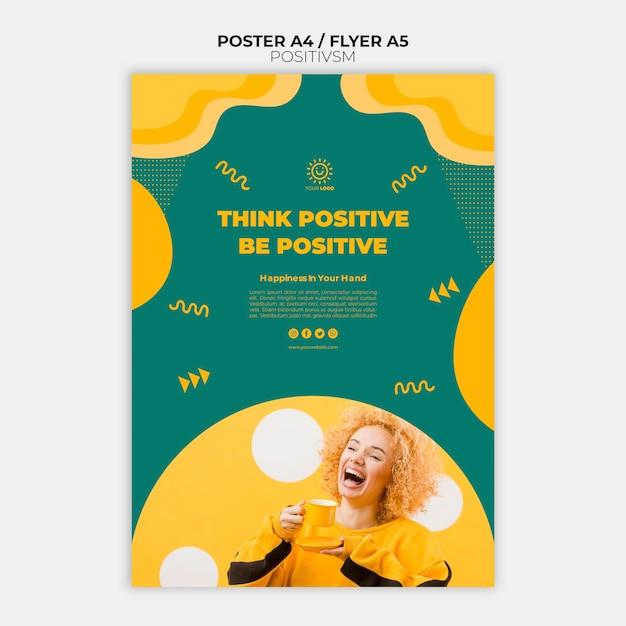 Positivismus-vorlage für plakatgestaltung Kostenlosen PSD