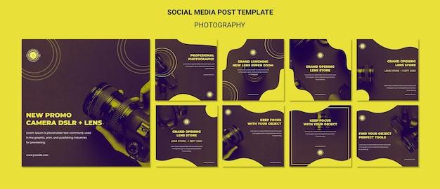 Post-vorlage für fotografie und soziale medien Kostenlosen PSD