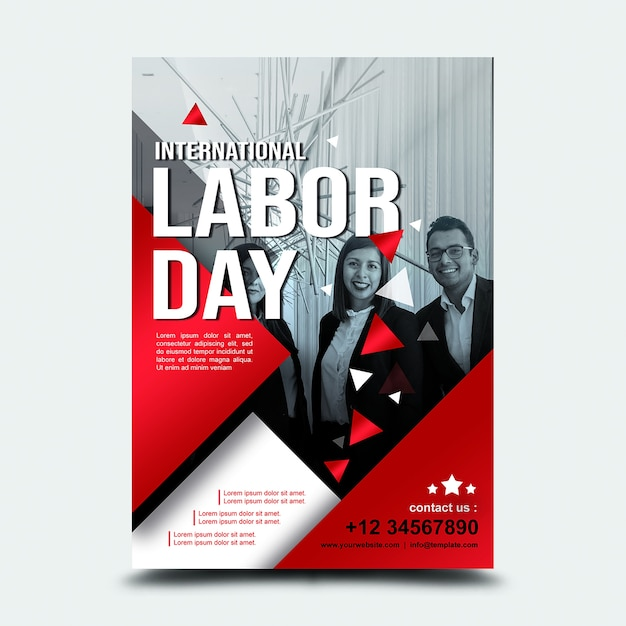 Poster 3. september internationaler tag der arbeit usa Premium PSD