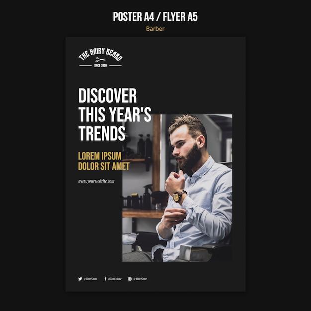 Poster friseur shop vorlage Kostenlosen PSD