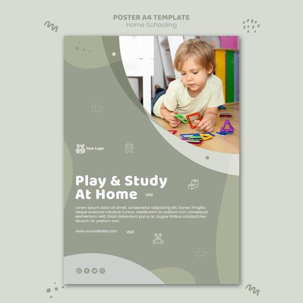 Poster home schooling vorlage Kostenlosen PSD