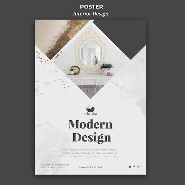Poster innenarchitektur vorlage Kostenlosen PSD