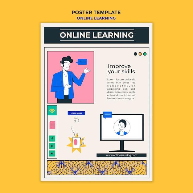 Poster online-lernvorlage Premium PSD