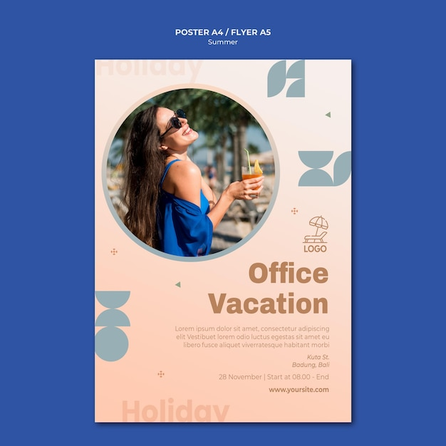 Poster sommerreisevorlage Kostenlosen PSD