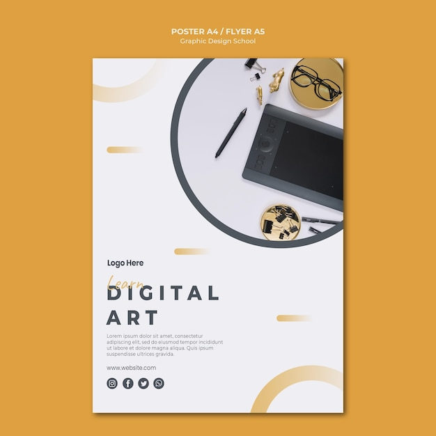 Poster vorlage grafikdesign Kostenlosen PSD