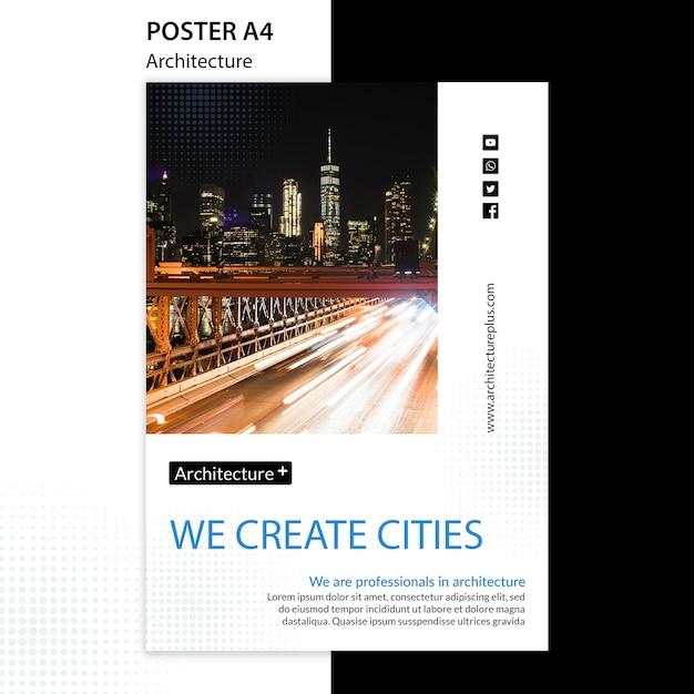 Postervorlage des architekturkonzepts Kostenlosen PSD