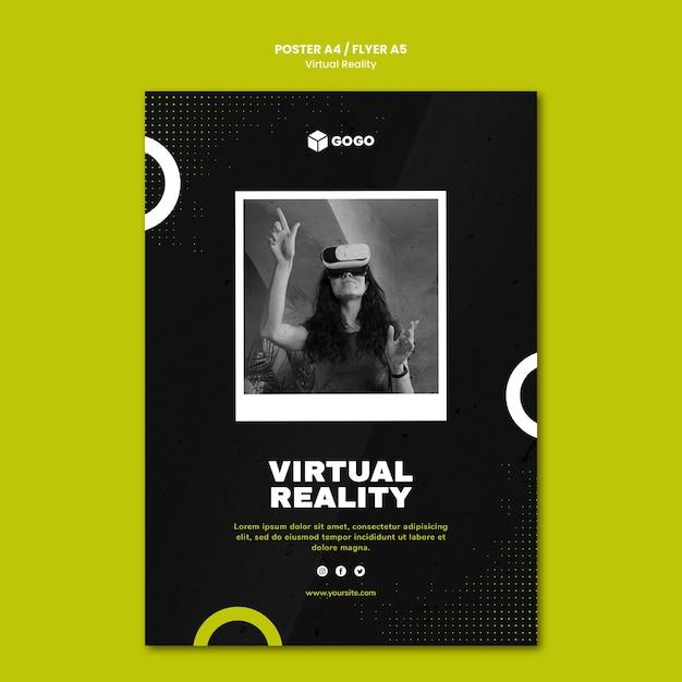 Postervorlage für virtuelle realität Kostenlosen PSD