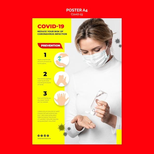 Postervorlage zur verhinderung von coronavirus Kostenlosen PSD