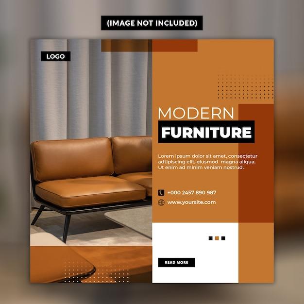 Postvorlage für soziale möbel der modernen möbel Premium PSD