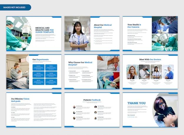 Präsentationsvorlage für medizinisches krankenhaus und gesundheitswesen Premium PSD