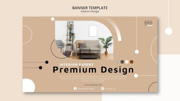Premium innenarchitektur banner vorlage Kostenlosen PSD