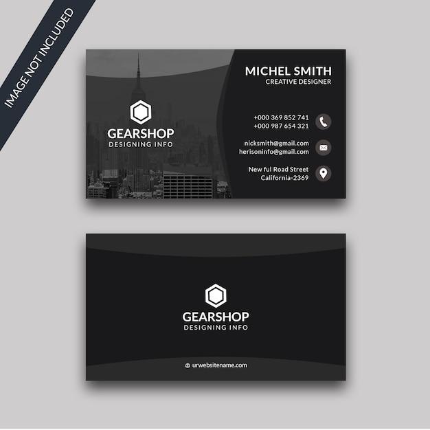 Premium schwarze visitenkarte Premium PSD