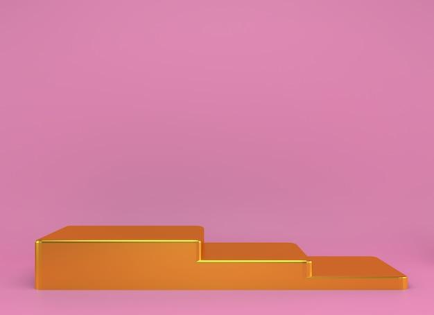 Produktpodest auf abstraktem rendering des abstrakten minimalgeometriekonzepts Premium PSD