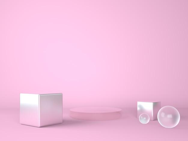 Produktpodest auf pastellhintergrundpräsentationsstufe Premium PSD