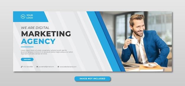 Professionelle banner-vorlage der agentur für digitales marketing Premium PSD