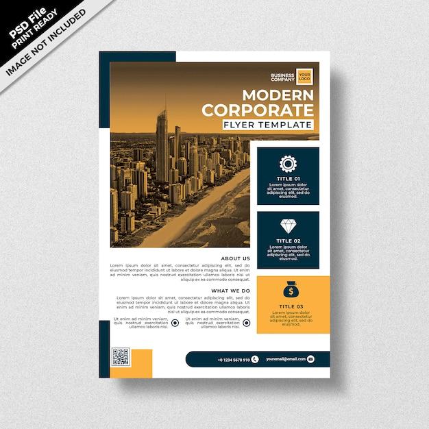Professionelle moderne corporate flyer vorlage Premium PSD