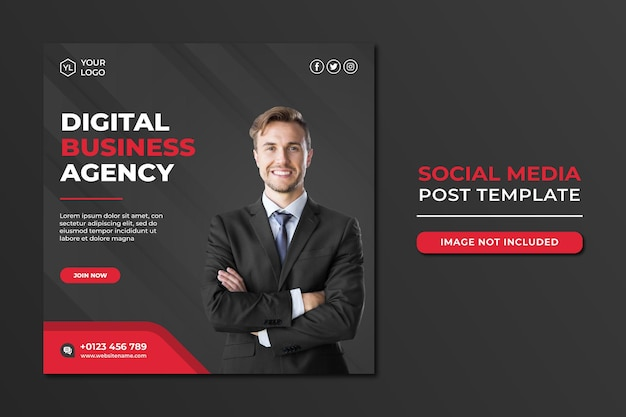 Professionelle social-media-agentur social media post-vorlage Premium PSD