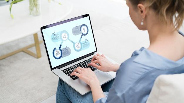 Professioneller freiberufler, der am laptop arbeitet Kostenlosen PSD
