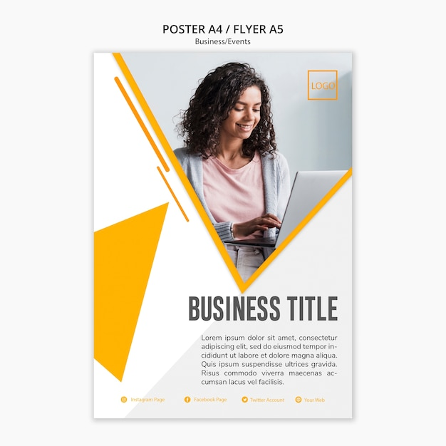 Professionelles business-template-design Kostenlosen PSD