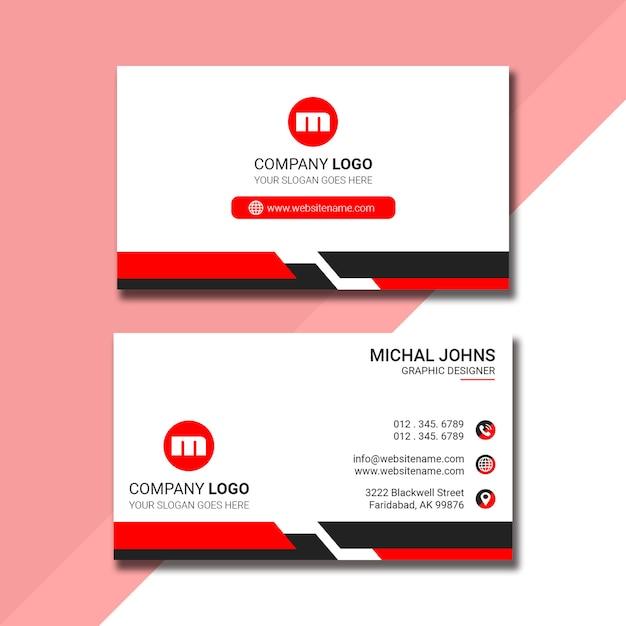 Professionelles visitenkarten-design Premium PSD