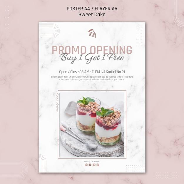 Promo-eröffnung kaufen sie eine erhalten sie eine kostenlose poster-vorlage Kostenlosen PSD