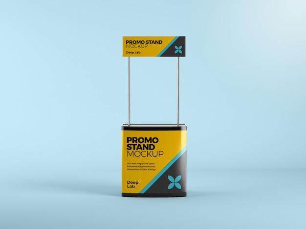 Promo stand mit bearbeitbaren mockup psd Premium PSD
