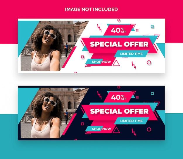 Promotion-social-media-cover-vorlage Premium PSD