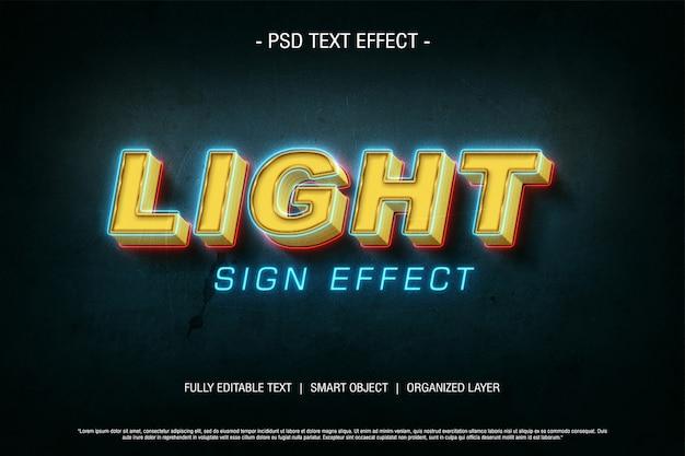 Psd texteffekt lichtzeichen Premium PSD