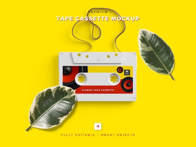 Psd-vorlage für tape cassette mockup Premium PSD