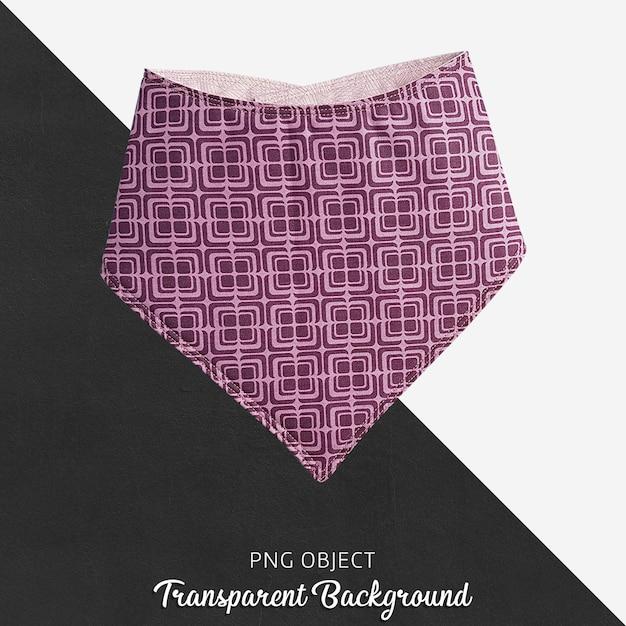Purpurroter kopierter bandana für baby oder kinder auf transparentem hintergrund Premium PSD