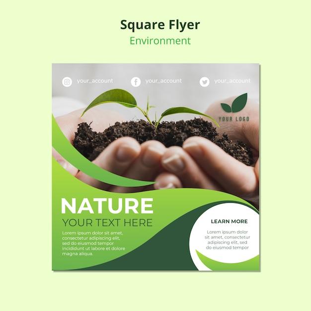 Quadrat flyer vorlage über die natur Kostenlosen PSD