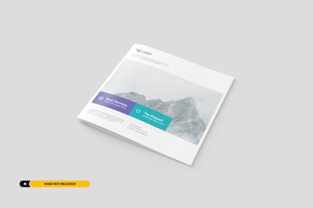 Quadratische broschüre mockup Premium PSD
