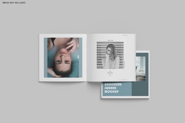 Quadratische broschüre und katalogmodell isoliert Premium PSD