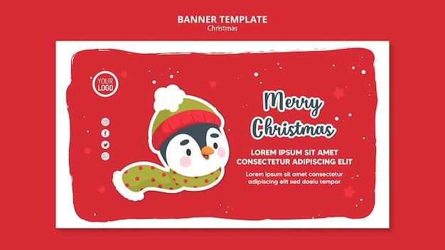 Quadratische flyer frohe weihnachten promo vorlage Kostenlosen PSD