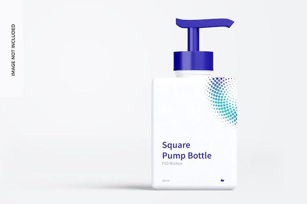 Quadratische pumpflasche modell vorderansicht Premium PSD
