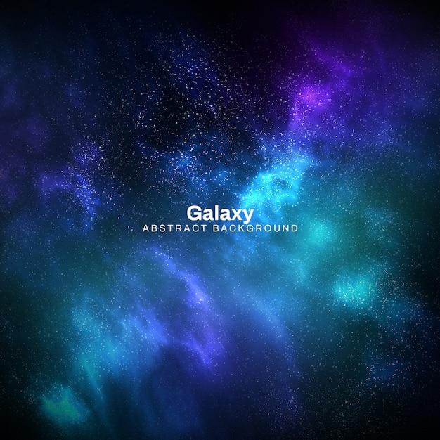 Quadratischer galaxie-zusammenfassungs-hintergrund Kostenlosen PSD