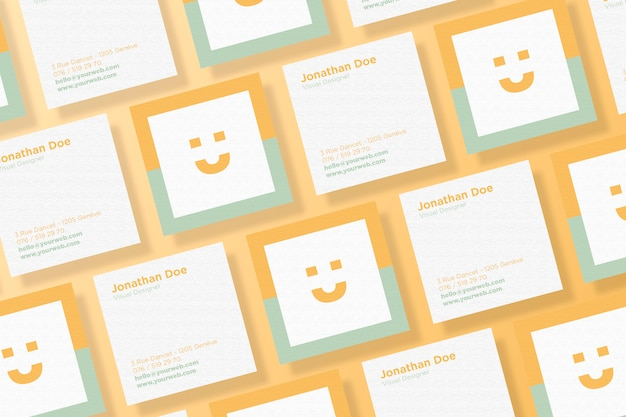 Quadratischer Visitenkarte Modellsatz Premium Psd Datei