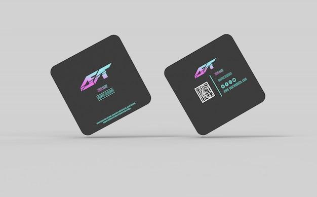 Quadratisches Visitenkarten Modell Premium Psd Datei