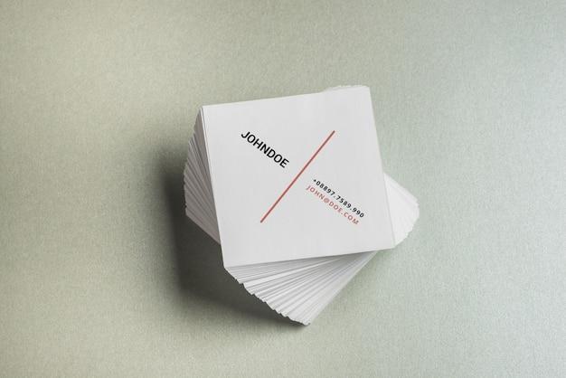 Quadratisches visitenkartenmodell Premium PSD