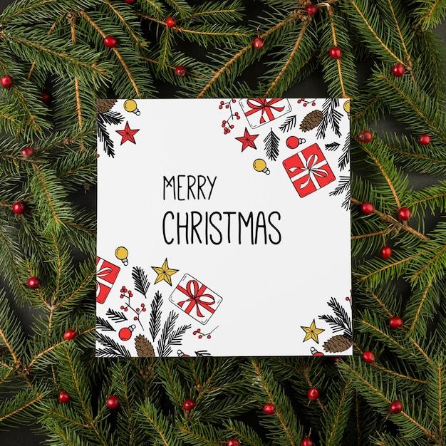 Quadratisches weihnachtskartenmodell Kostenlosen PSD