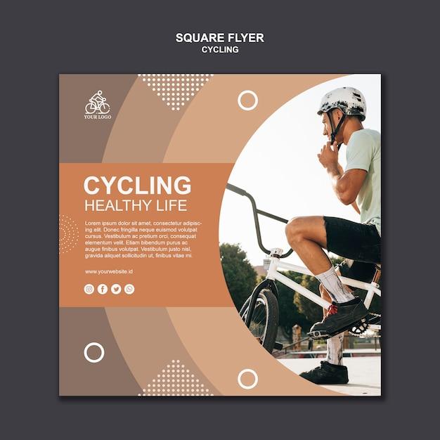 Radfahren gesunder lebensquadratflieger Kostenlosen PSD